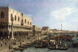 Dock with the Column of San Marco and Doges Palace, Venice, 1735