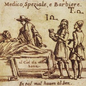 Doctor, Apothecary and Barber, 15th Century