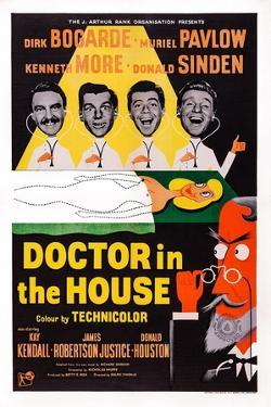 Doctor in the House, Donald Sinden, Kenneth More, Dirk Bogarde, Donald Houston, 1954