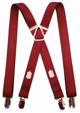 Doctor Who - Tardis Burgundy Suspenders