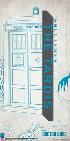 Doctor Who- Tardis Graphic Outline