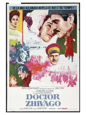 Doctor Zhivago, Spanish Movie Poster, 1965