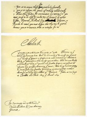 Documents Signed by Charles I, C1641