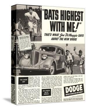 Dodge Ad With Joe Dimaggio