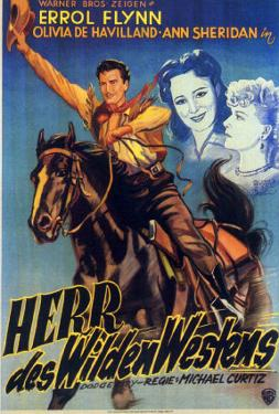 Dodge City, German Movie Poster, 1939