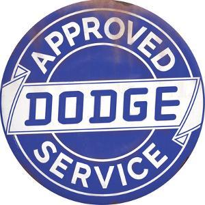 Dodge Service Tin Button Sign