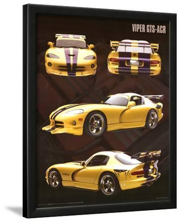 Dodge Viper (GTS-ACR, Yellow) Art Poster Print