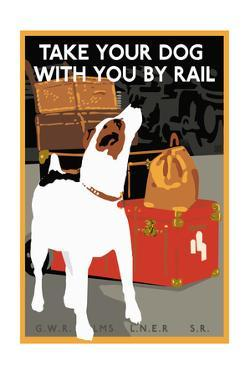 Dog by Rail