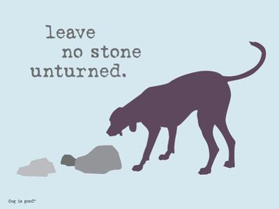 No Stone Unturned by Dog is Good
