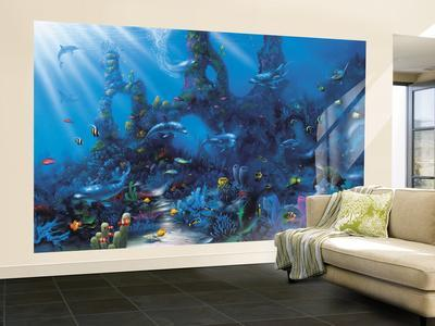 Wall murals posters at for Dolphins paradise wall mural
