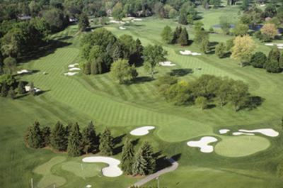 Oakland Hills Country Club, Hole 18 aerial