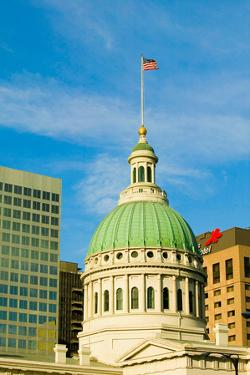 Dome of Saint Louis Historical Old Courthouse, Federal Style architecture built in 1826 and site...