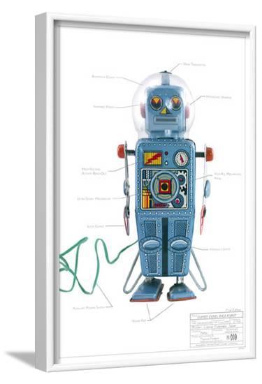 Domed Easel Back Robot--Framed Masterprint