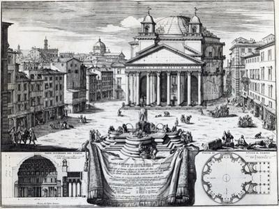 Piazza Della Rotonda with a View of the Pantheon