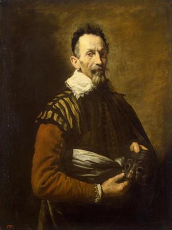 Portrait of an actor, 1620-1622 by Domenico Fetti or Feti