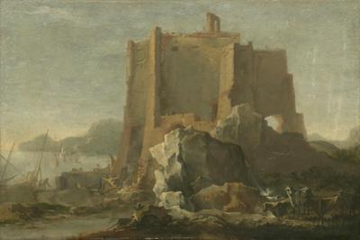 Landscape with Rock and Fortress, C.1640-50