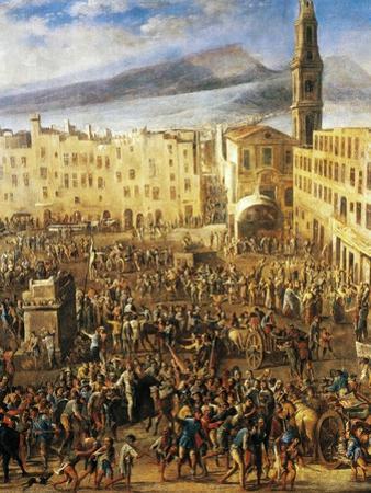 Piazza Del Mercato in Naples, Detail from the Revolt of Masaniello