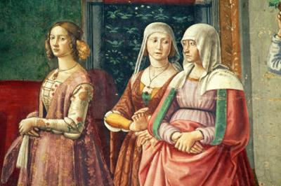 Florentine Ladies, from the Birth of St. John the Baptist (Detail) by Domenico Ghirlandaio