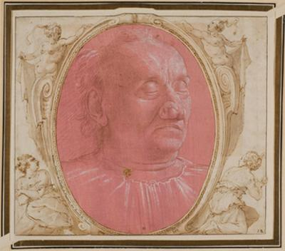 Head of an Old Man by Domenico Ghirlandaio
