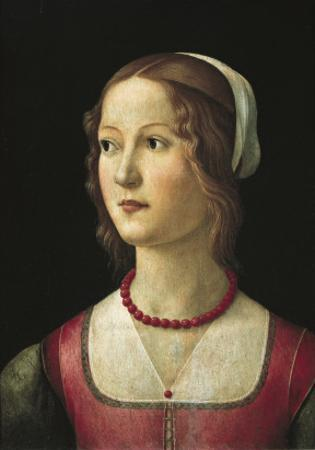 Portrait of a Young Woman by Domenico Ghirlandaio