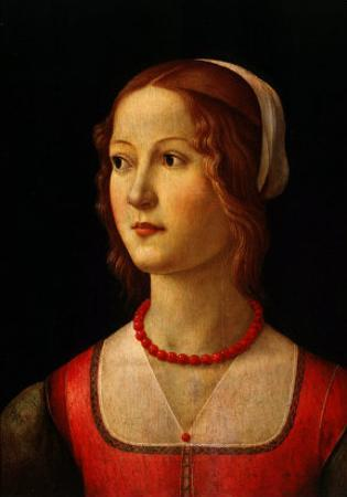 Portrait of Young Woman, 1485 by Domenico Ghirlandaio