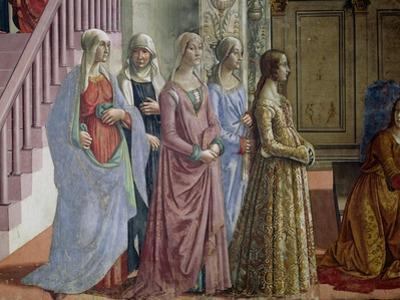 The Birth of the Virgin, Detail of the Women, 1490 by Domenico Ghirlandaio