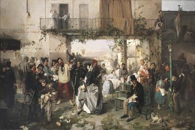 News of the Peace of Villafranca, 1862