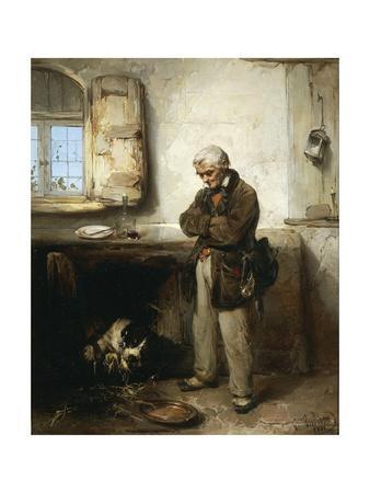 Old Man and Dog, Circa 1855