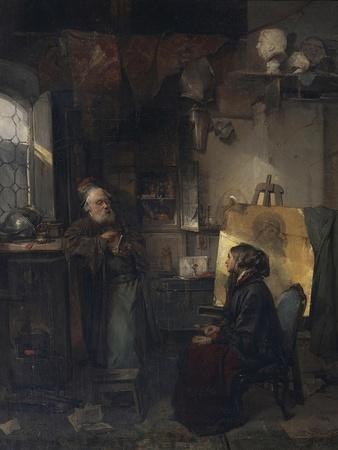 The Aged Moneylender Examining the Last Pieces of Jewelry of Lady Fallen on Hard Times, 1853