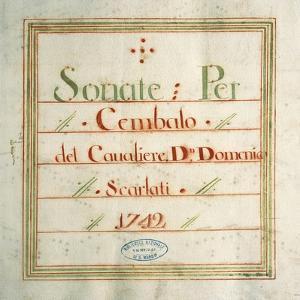 Collection of Sonatas for Harpsichord by Domenico Scarlatti