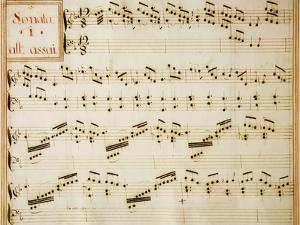 Music Sheet of Sonata No 1, Allegro Assai by Domenico Scarlatti