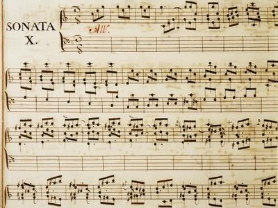 Music Sheet of Sonata No 10