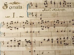 Music Sheet of Sonata No 1 by Domenico Scarlatti