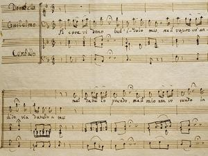 Music Sheet of the Spring, Serenade for Four Voices Dedicated to the Four Seasons, 1720 by Domenico Scarlatti