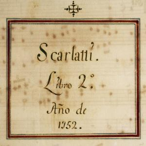 Title Page of the Second Volume of the Sonatas Collection for Harpsichord in 13 Volumes, 1752 by Domenico Scarlatti