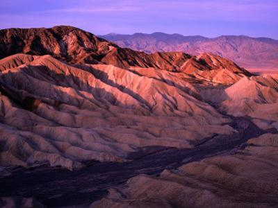 Folds of Land Viewed from Zabriskie Point at Sunrise, Nevada