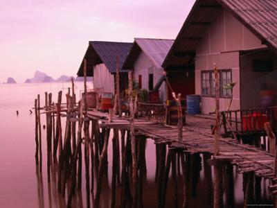 Stilt Houses at Dusk, Ko Panyi, Phang-Nga, Thailand by Dominic Bonuccelli