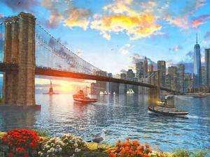 Brooklyn Bridge Sunset by Dominic Davison