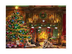 Festive Labradors by Dominic Davison