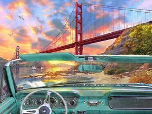 Golden Gate from a Car by Dominic Davison