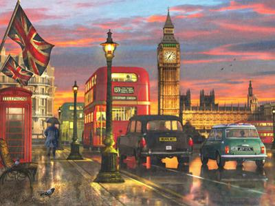 Raining Parliament Square (Variant 1) by Dominic Davison