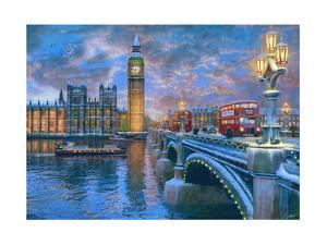 Westminster at Christmas by Dominic Davison
