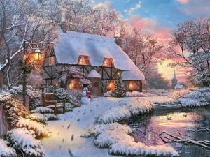Winter Cottage by Dominic Davison