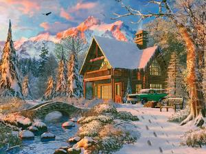 Winter Holiday Cabin by Dominic Davison