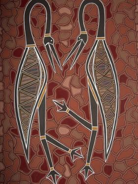 Paintings from the Dreamtime Including Two Birds, Australia, Pacific by Dominic Harcourt-webster