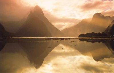 Mitre Peak At Sunset, Milford Sound, South Island, New Zealand