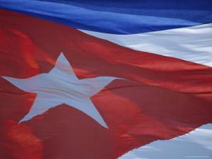 National Flag, Cuba, West Indies, Central America by Dominic Webster