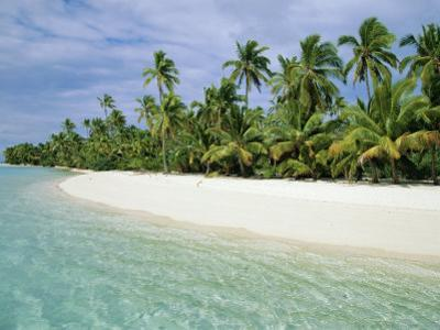 Palms, White Sand and Turquoise Water, One Foot Island, Aitutaki, Cook Islands, South Pacific