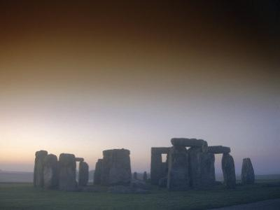 Standing Stone Circle at Sunrise, Stonehenge, Wiltshire, England, UK, Europe