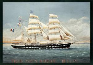 Trois Mats Barque Belem by Dominique Perotin